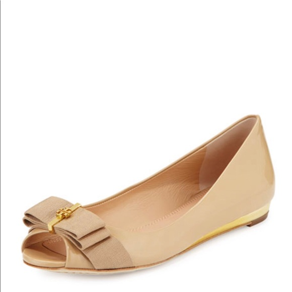 Tory Burch Trudy Peep Toe Flats